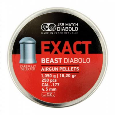 Пули пневматические JSB Exact Beast Diabolo 4.52 мм 1.05 грамма (250 шт.)
