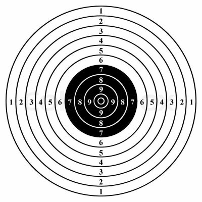Мишень Remington №4 500х500 черная
