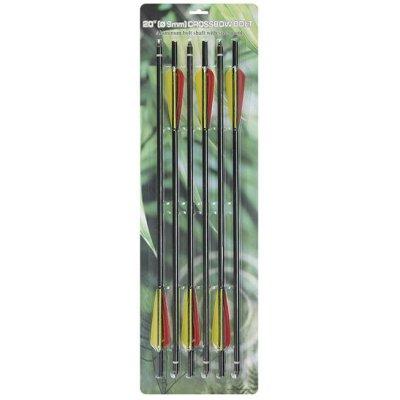 Набор стрел для арбалета Man Kung 20 алюминий (6 шт.) черные