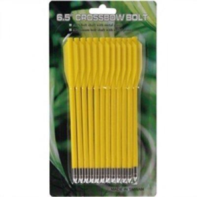 Набор стрел Man Kung для пистолета-арбалета 6.5 пластик (12 шт.) желтые