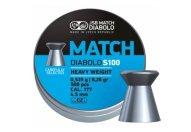 Пули пневматические JSB Blue Match Diabolo S100 4,5 мм 0,535 грамма (500 шт.)
