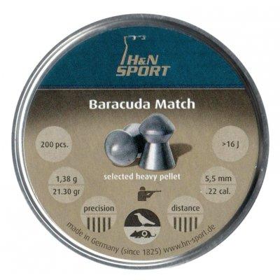 Пули пневматические H&N Baracuda Match 5.51 мм 1.38 грамма (200 шт.)