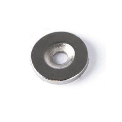 Неодимовый магнит 18х4 мм отверстие 4-9 мм