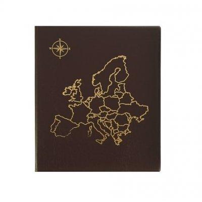 """Альбом """"Карта"""" для монет на кольцах, 230х270мм, формат оптима, без листов (ПВХ)"""