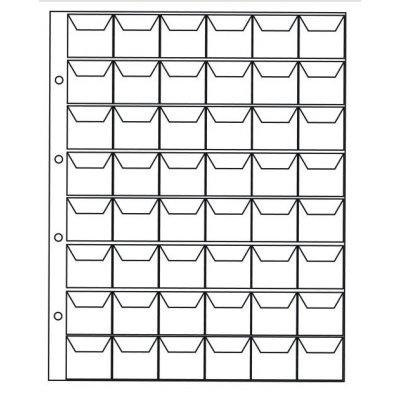 Лист для монет 200х250мм на 48 ячеек, ячейка 30х30мм