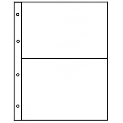 Лист для бон и открыток 200х250мм на 2 ячейки размером 180х120мм