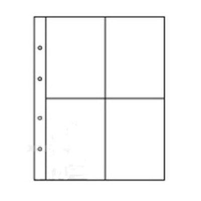 Лист для бон 200х250мм на 4 ячейки размером 90х117мм