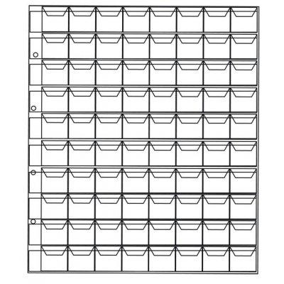 Лист для монет 200х250мм на 80 ячеек размером 22х17мм