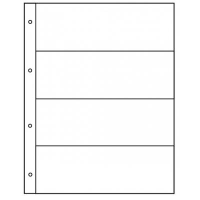 Лист для бон 200х250мм на 4 ячейки размером 180х56мм
