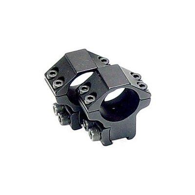 Кольца Leapers Accushot 25,4 мм для установки на оружие с призмой 10-12 мм, STM, средние RGPM-25M4