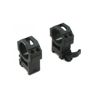 Кольца Leapers UTG 30 мм быстросъёмные на Picatinny с рычажным зажимом, средние RQ2W3154