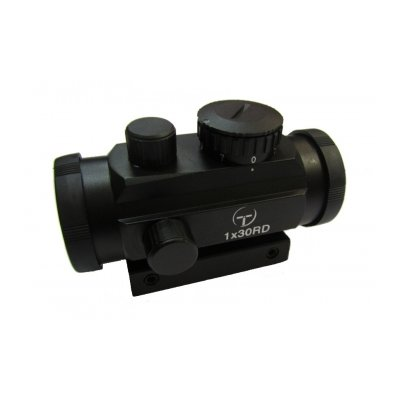Коллиматорный прицел Target Optic 1x30 закрытого типа на Weaver, подсветка точка