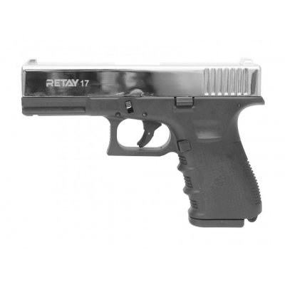 Охолощенный СХП пистолет Retay 17 (Glock), 9mm P.A.K, никель