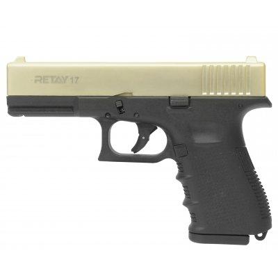 Охолощенный СХП пистолет Retay 17 (Glock), 9mm P.A.K, сатин