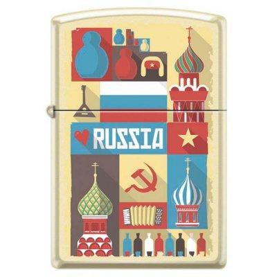 "Зажигалка Zippo 216 ""RUSSIAN POSTCARD"""