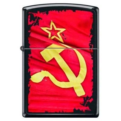 """Зажигалка Zippo 218 """"SOVIET FLAG SICKLE"""""""