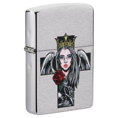 """Зажигалка Zippo 49262 """"Cross, Queen & Skull"""""""