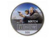 Пули пневматические Borner 4.5 мм Match 0.6 грамм (500 шт.)